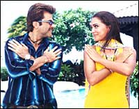 Anil Kapoor and Lara Dutta in No Entry