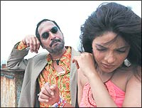 Nana Patekar and Priyanka Chopra in Bluffmaster