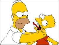 Homer and Bart Simpson