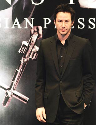 Keanu Reeves promoting Constantine in Hong Kong