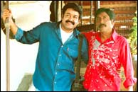 Mohanlal and Srinivasan in Udayananu Tharam