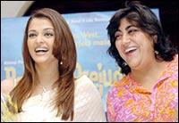 Aishwarya Rai with Gurinder Chadha