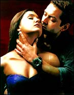 Lara Dutta and Bobby Deol in Jurm