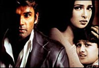 Suneil Shetty, Priyanka Chopra in Blackmail