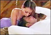 Dia Mirza and Ajay Devgan in Blackmail