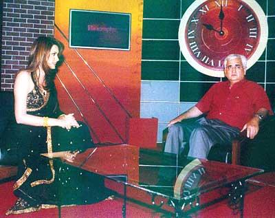 Diana Hayden with her guest, Salman Khurshid
