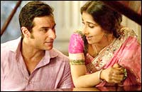 Saif Ali Khan and Vidya Balan in Parineeta