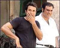 Director Homi Adajania with Boman Irani
