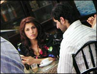 Dimple Kapadia and Saif Ali Khan