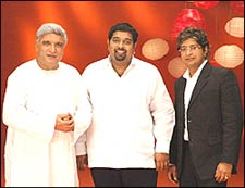 Javed Akhtar, Shankar Mahadevan and KK