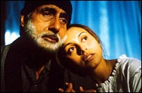 Amitabh Bachchan and Rani Mukerji in Black