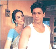 Gayatri Joshi and Shah Rukh Khan in Swades