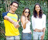Malaika Arora Khan with Bhawna and Swapnil
