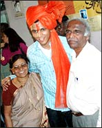 Abhijeet with his parents