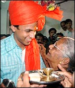 Abhijeet with his grandmother