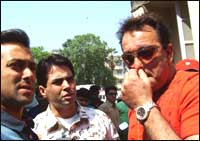 Salman, Aman, and Sanjay Dutt