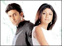 Abhishek Bachchan and Shilpa Shetty in Phir Milenge