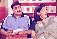 Satish Shah and Ratna Pathak-Shah in Sarabhai vs Sarabhai