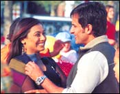 Rani Mukerji and Saif Ali Khan in Hum Tum