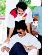 Mohanlal with Priyadarshan