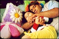 Baby Rucha Vaidya and Ajay Devgan in Main Aisa Hi Hoon