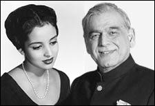 Leela Naidu and Ismail Merchant
