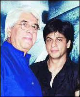 Aziz Mirza and Shah Rukh Khan