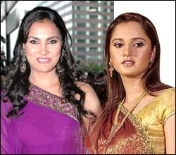 Lara Dutta and Sania Mirza
