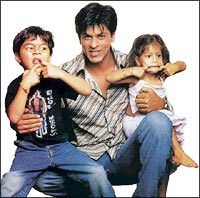 Shah Rukh Khan with Aryan and Suhani