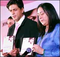 Shah Rukh Khan and Nasreen Munni Kabir