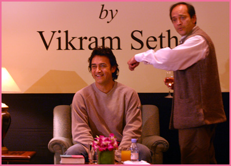 Aamir Khan and Vikram Seth