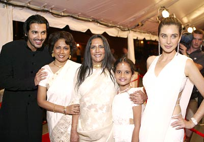 John Abraham, Seema Biswas, Deepa Mehta, Sarala and Lisa Ray