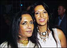 Deepa Mehta and daughter Devyani Saltzman
