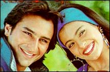 Saif Ali Khan and Kajol