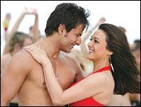 Saif Ali Khan and Preity Zinta in Salaam Namaste