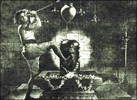 A still from Bedara Kannappa
