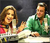 Vidya Balan and Sanjay Dutt in Lage Raho Munnabhai