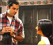 Abhay Deol and Soha Ali Khan in Ahista Ahista