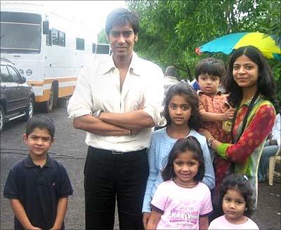 Ajay Devgan with fans