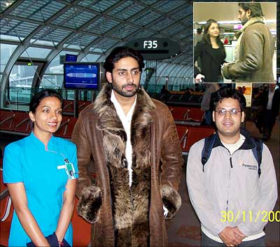 Reader Udaysinh with Abhishek Bachchan
