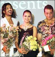 John Abraham, Lara Dutta and Sanjay Dutt