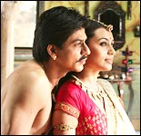 Shah Rukh Khan and Rani Mukerji in Paheli