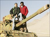 Mini Mathur and Kabir Khan in Kabul