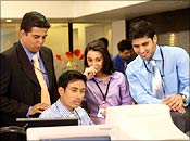 A still from Corporate