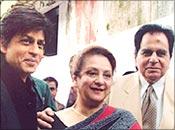 Shah Rukh, Saira Banu and Dilip Kumar