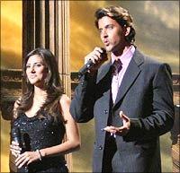 Hrithik Roshan on the sets of The Great Indian Laughter Challenge