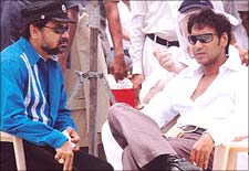 Anees Bazme with Ajay Devgan