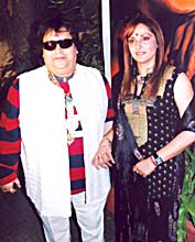 Bappi Lahiri and Jaya Prada