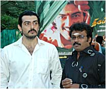 Ajit with director Peraarasu