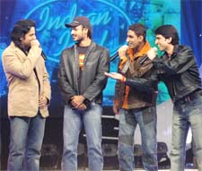 A still from tonight's episode of Indian Idol